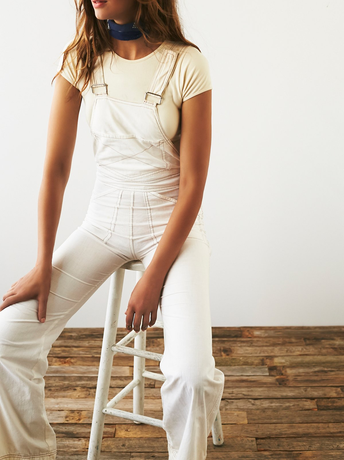 Vintage 1970s White Overalls