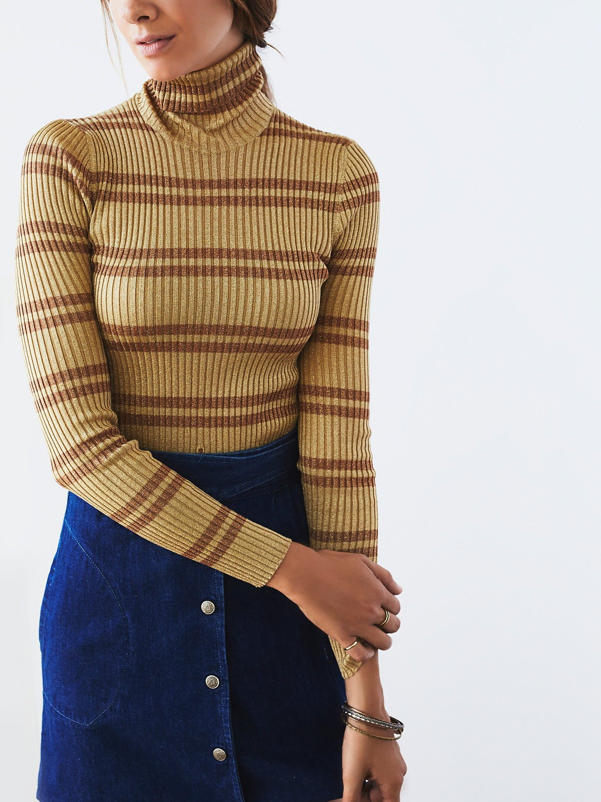 Vintage 1980s Ribbed Turtleneck