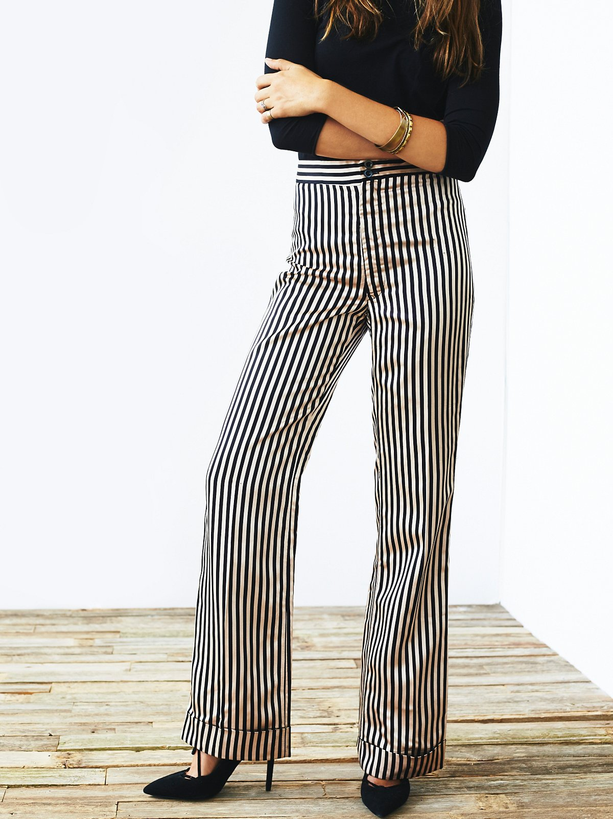 Vintage 1970s Striped Pants