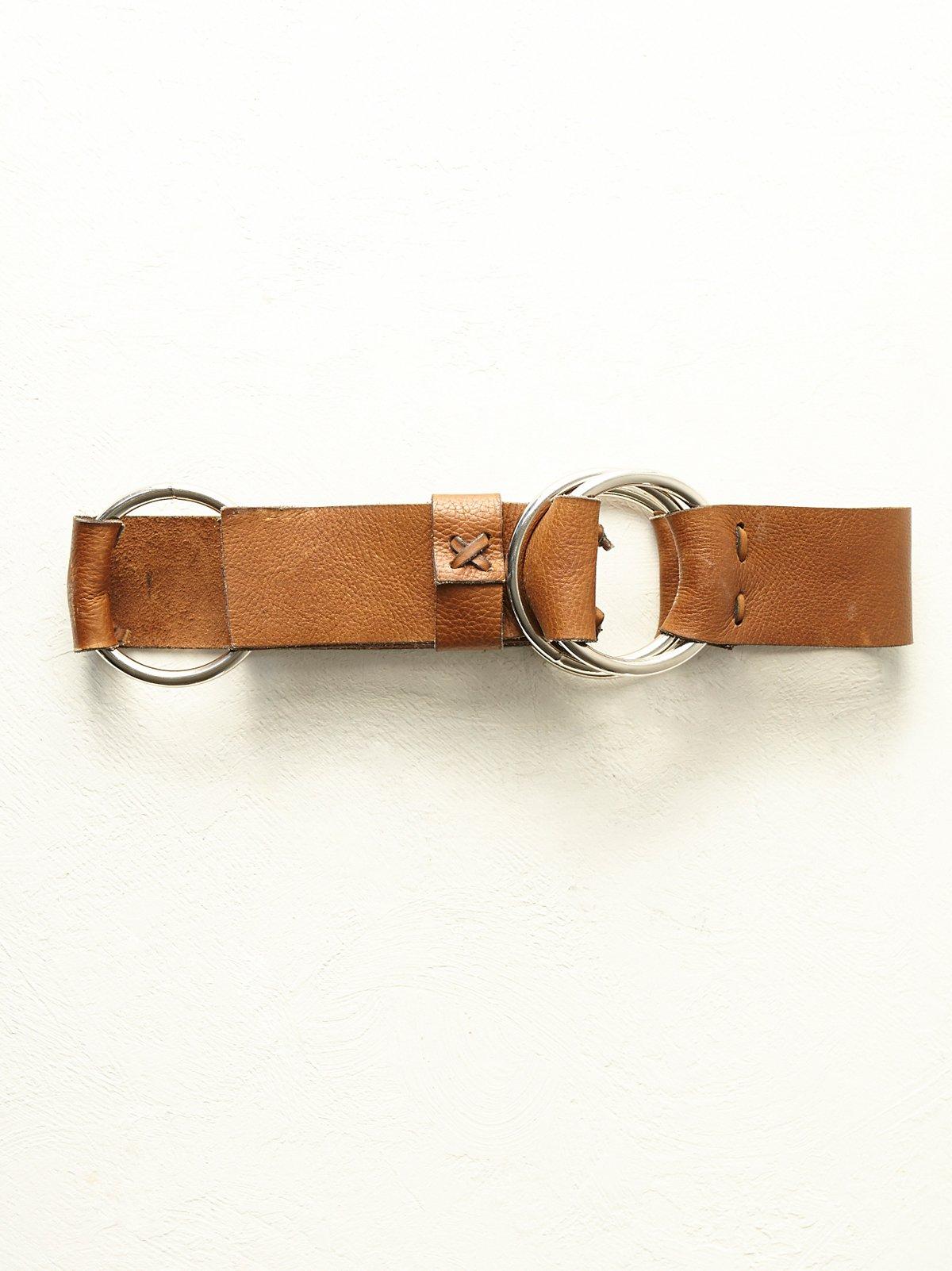 FP Vintage Leather Hoop Belt