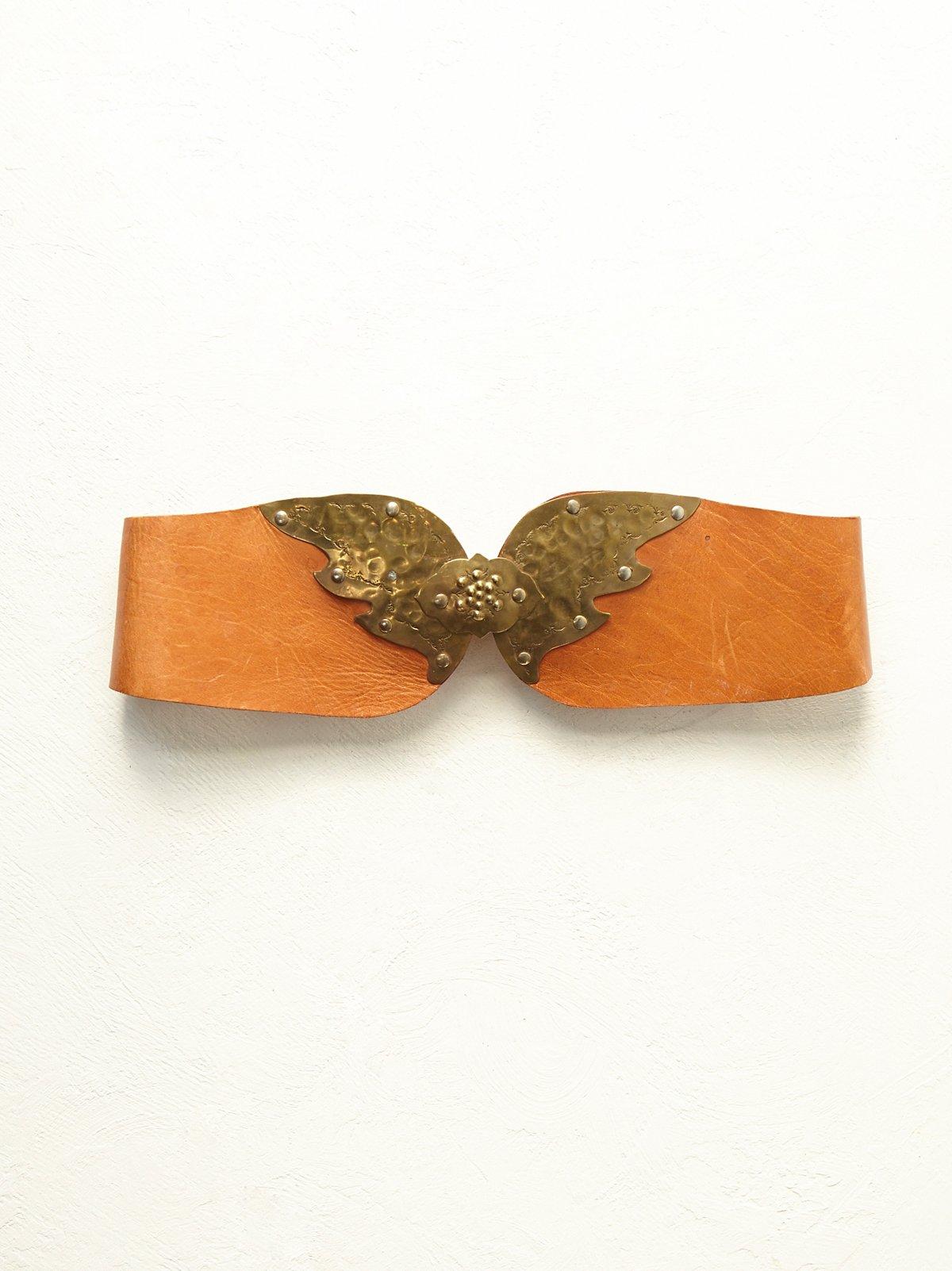 FP Vintage Wide Leather Belt