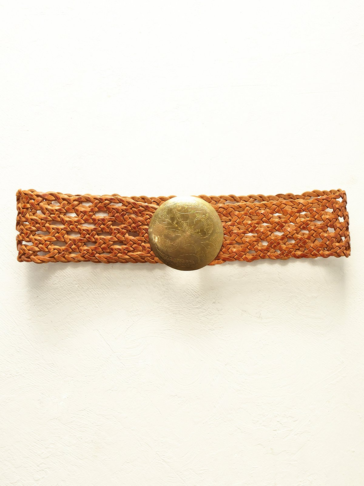 FP Vintage 1970s Woven Leather Belt