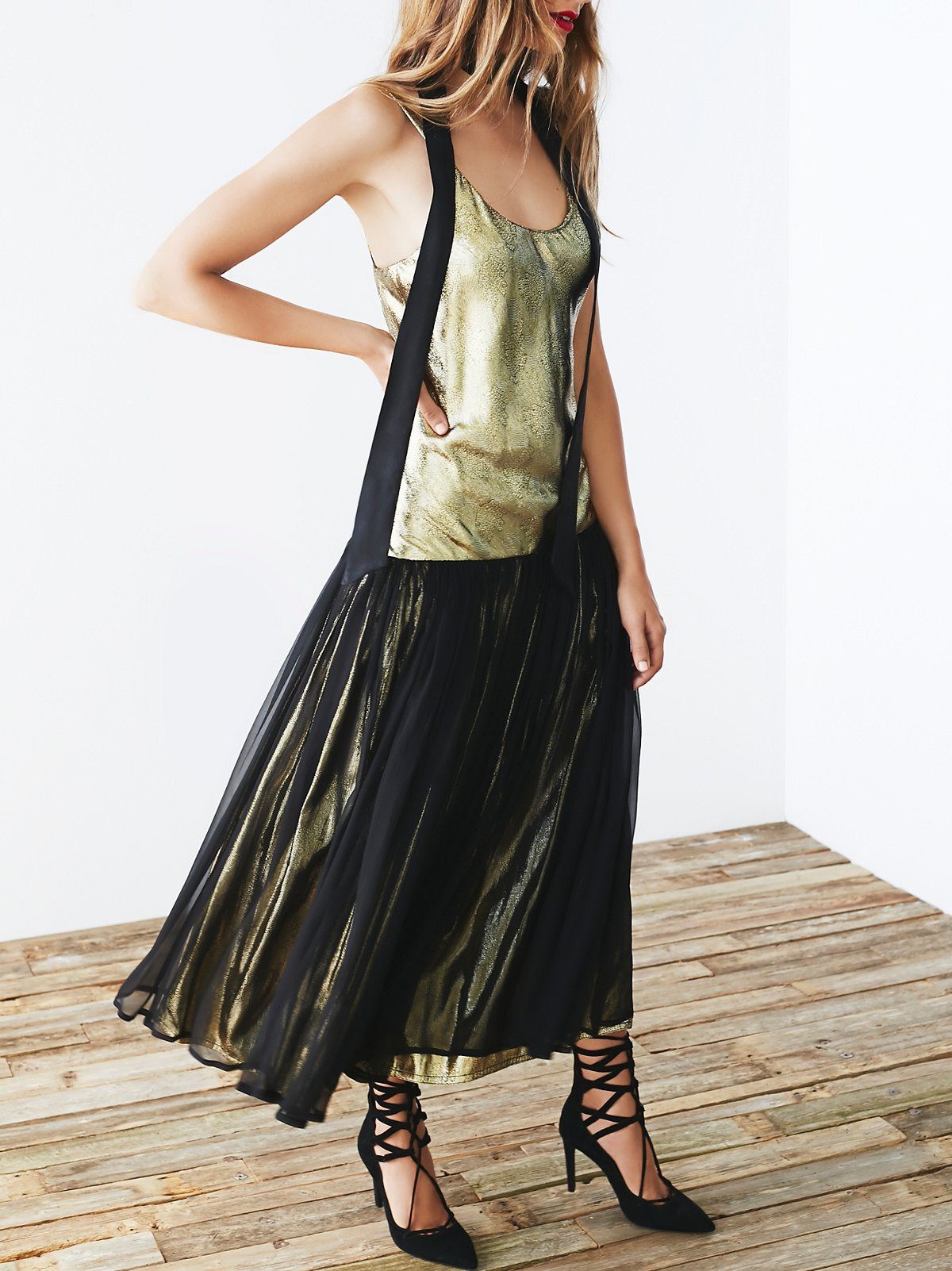 Vintage 80s Metallic Dress