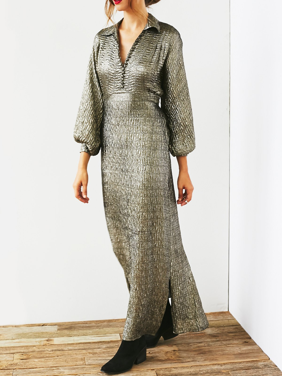 Vintage 1930s Metallic Dress