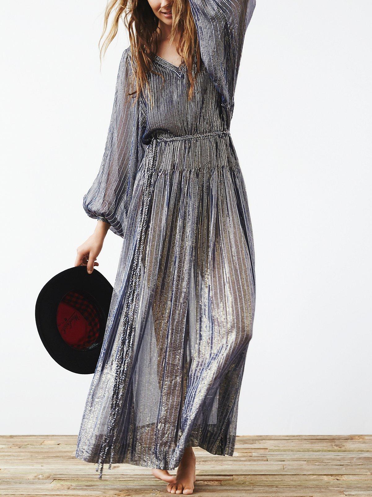 Vintage 1970s Silk Dress