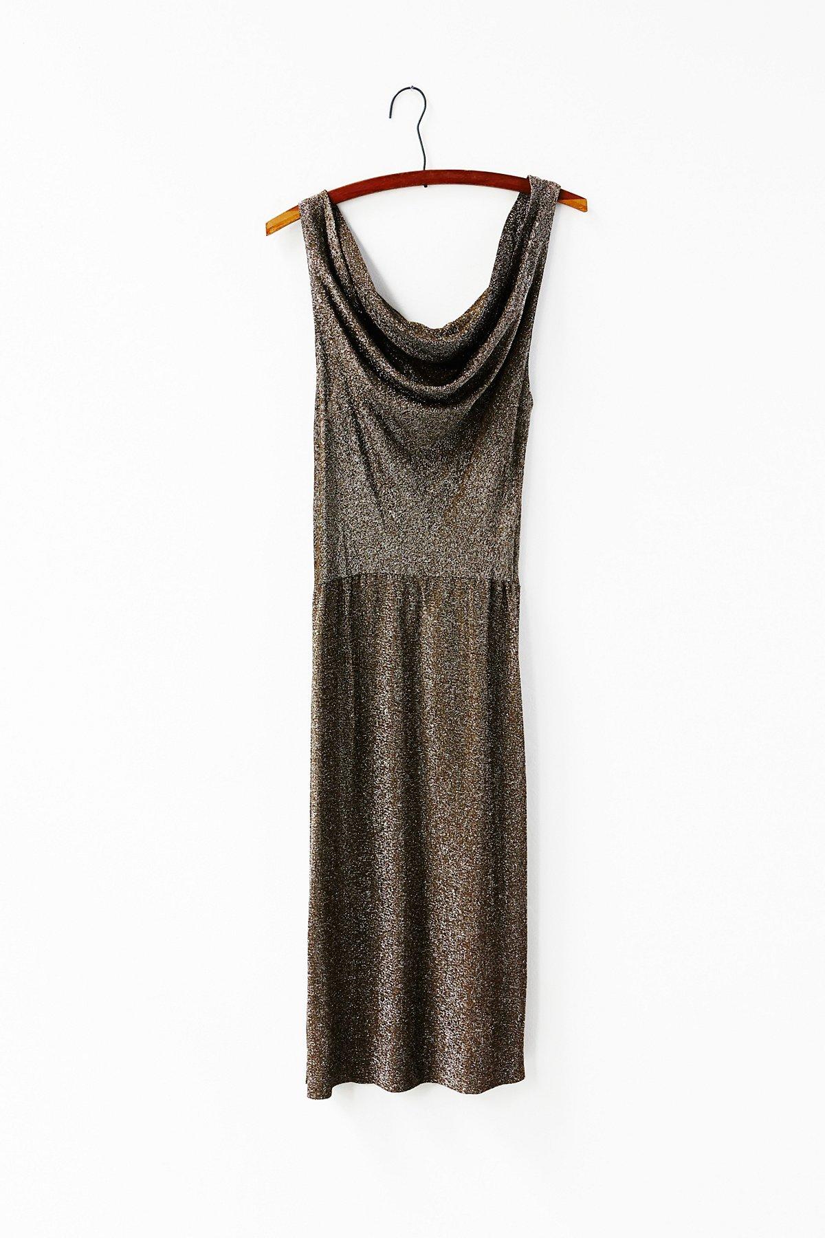 Vintage 1980s Metallic Dress