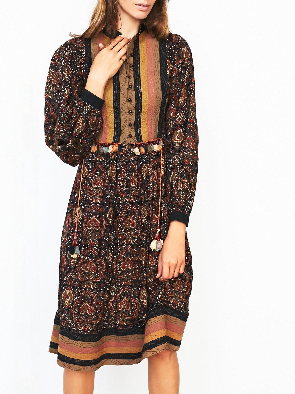 FP Vintage 70s Boho Printed Dress