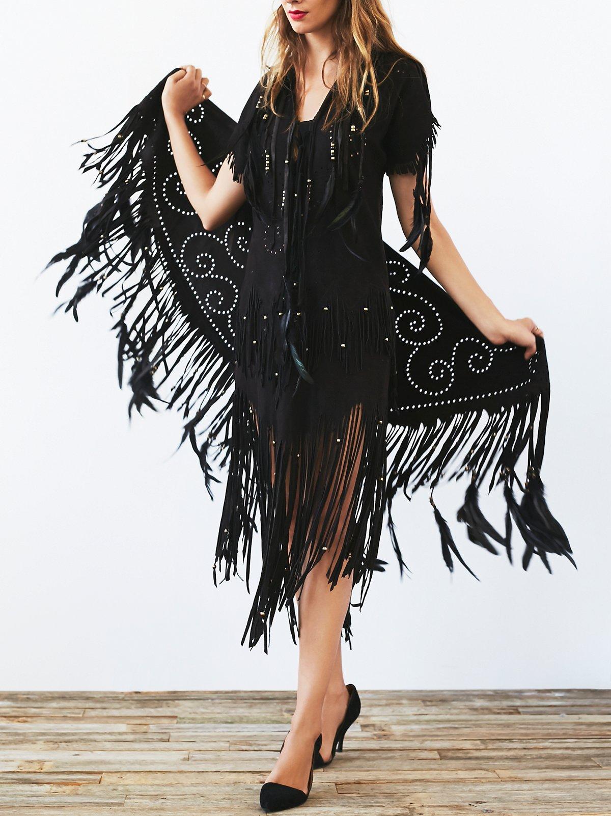 FP Vintage 80s Fringe Dress