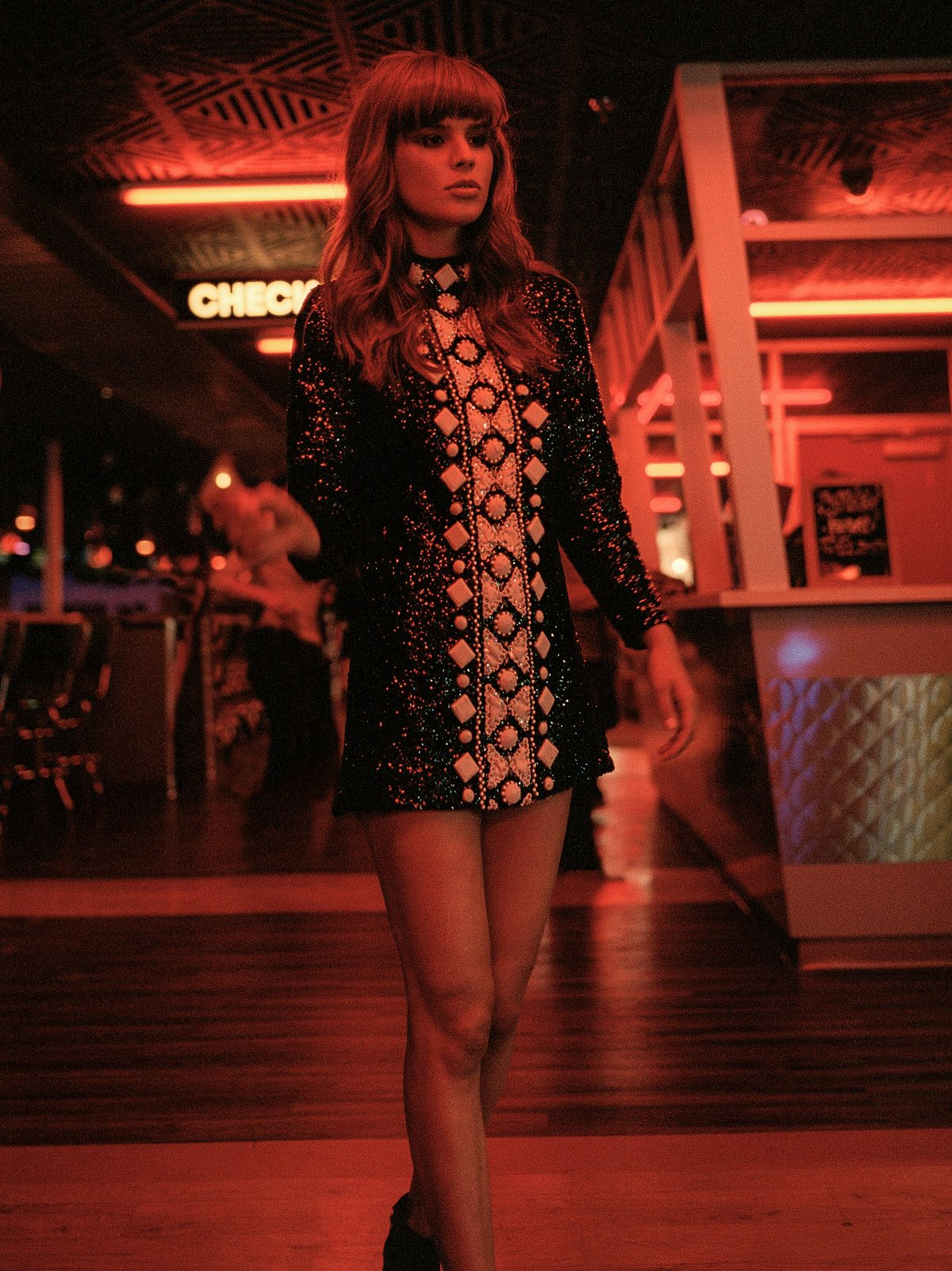 FP Vintage 60s Sequin Mini Dress