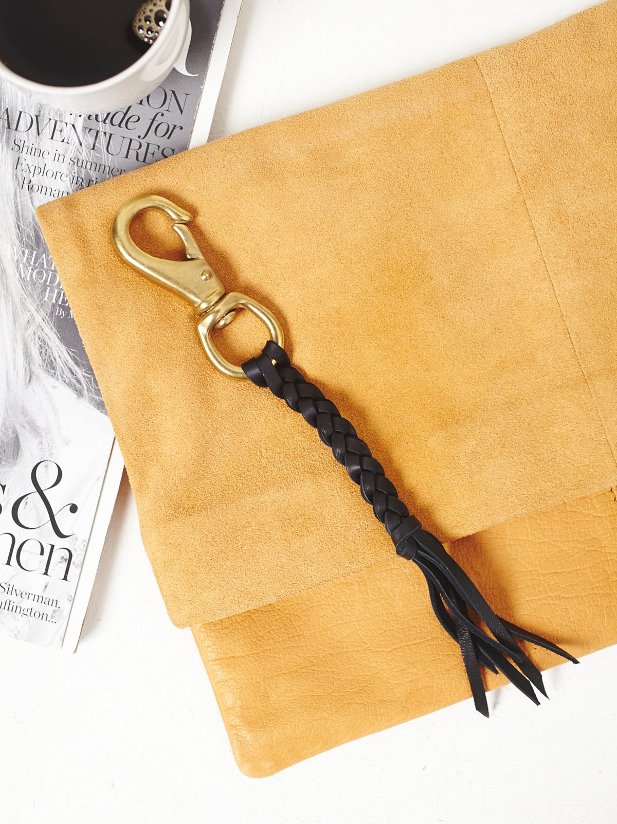 Leather Braided Keychain