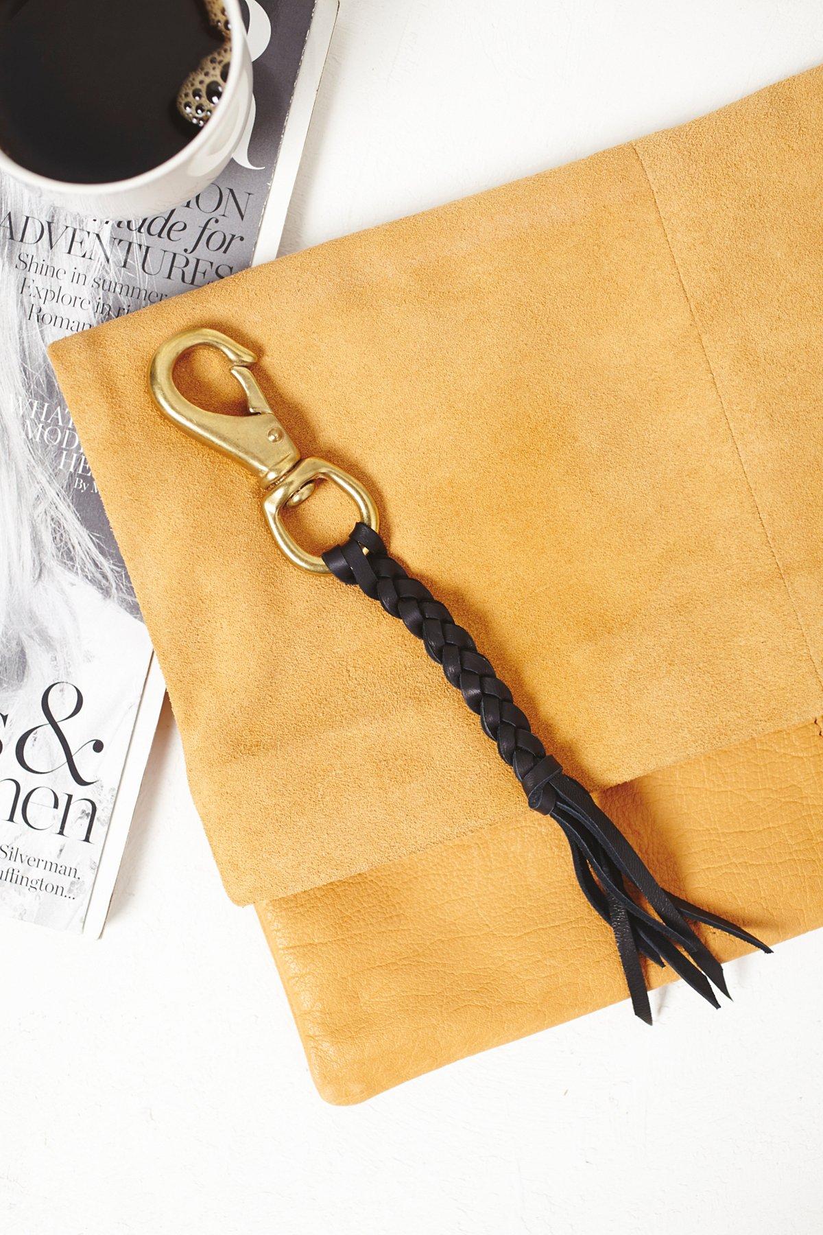 Leather Braided Keychain
