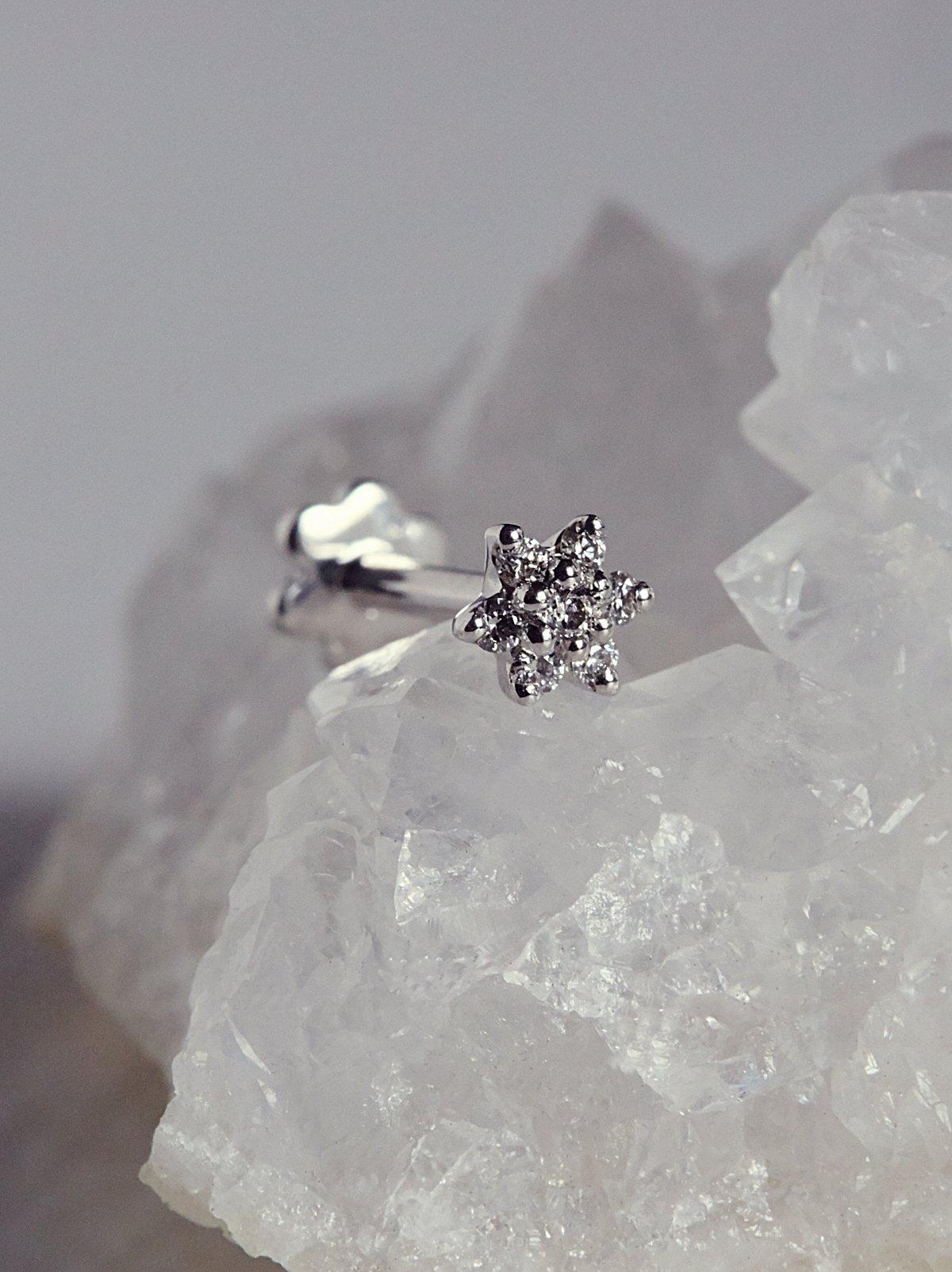 Flower Helix钻石耳钉