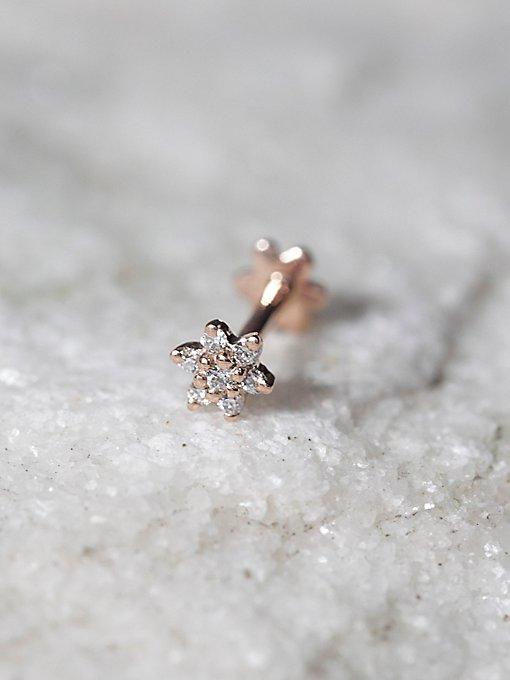 Product Image: Diamond Flower Helix Stud