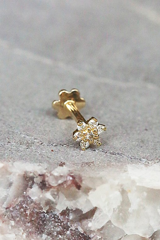 Product Image: Diamond Flower Helix Stud