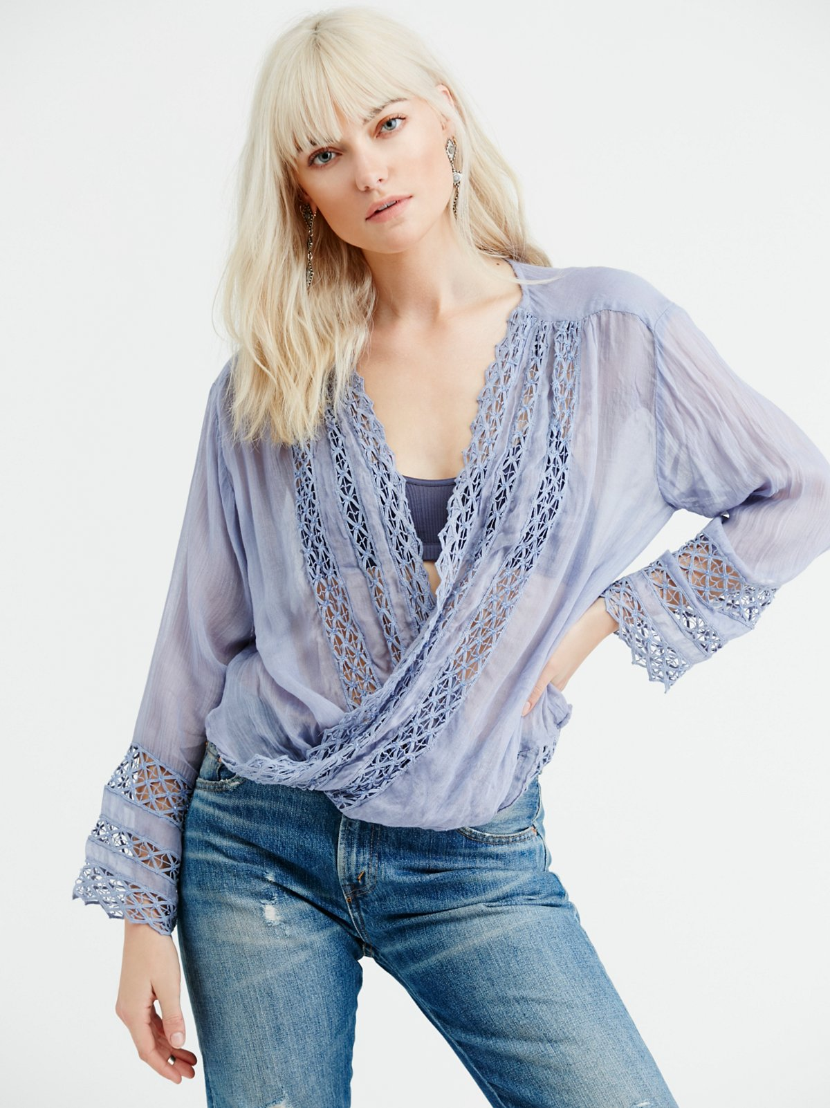 FP One Embellished Mia Wrap Top