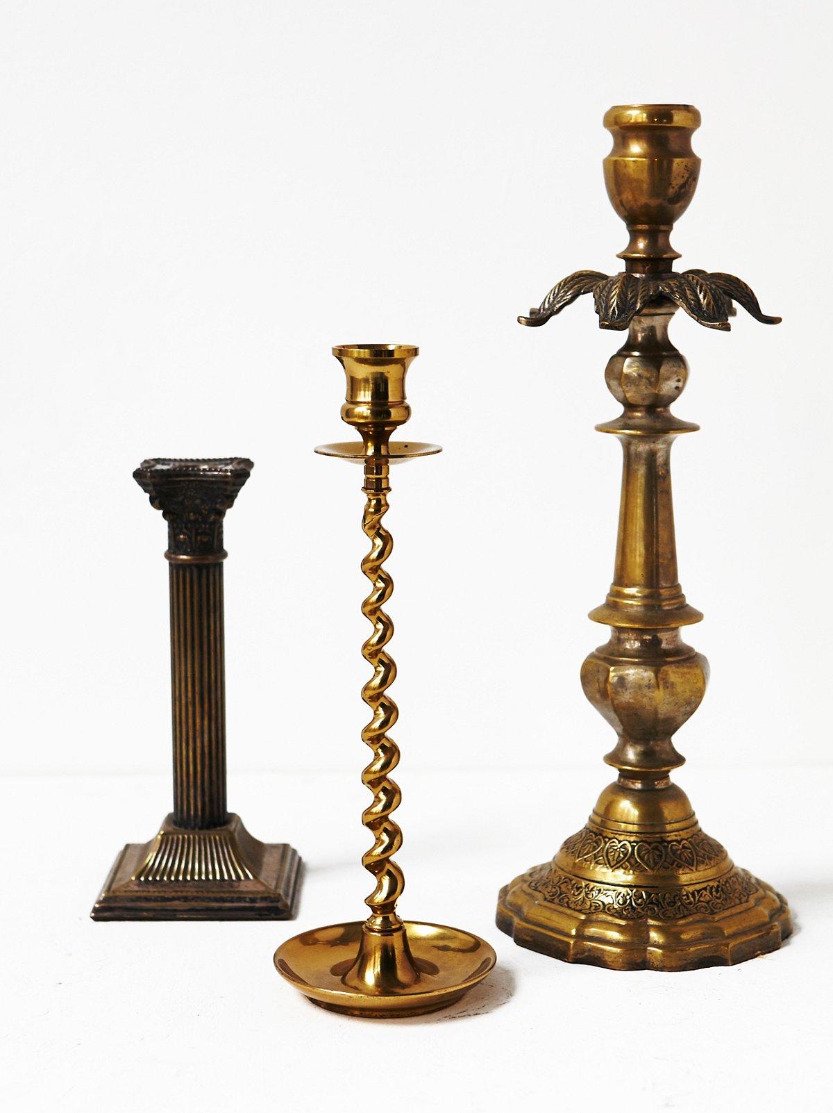Vintage Mismatched Candlesticks