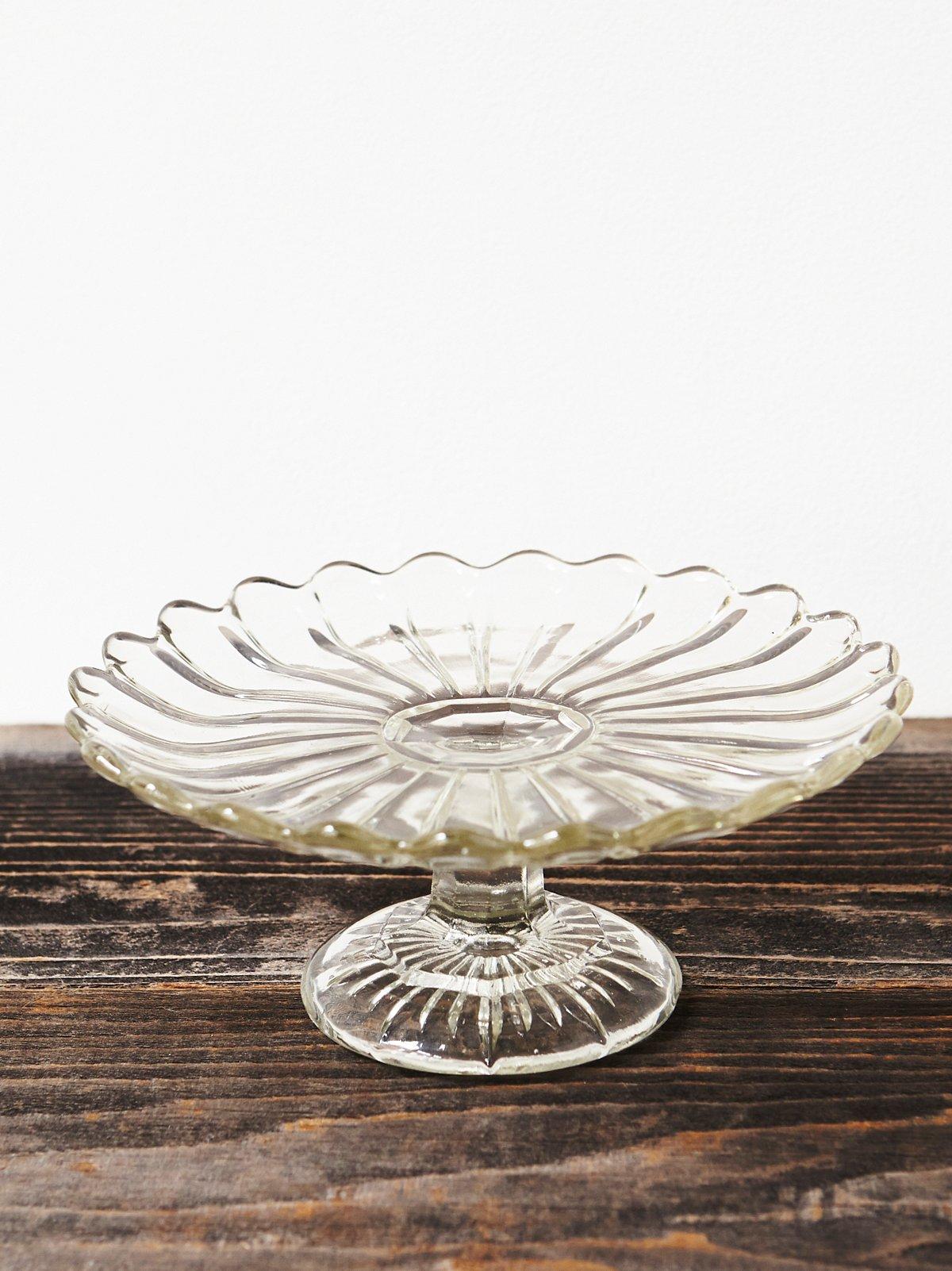 Vintage Glass Cake Plate
