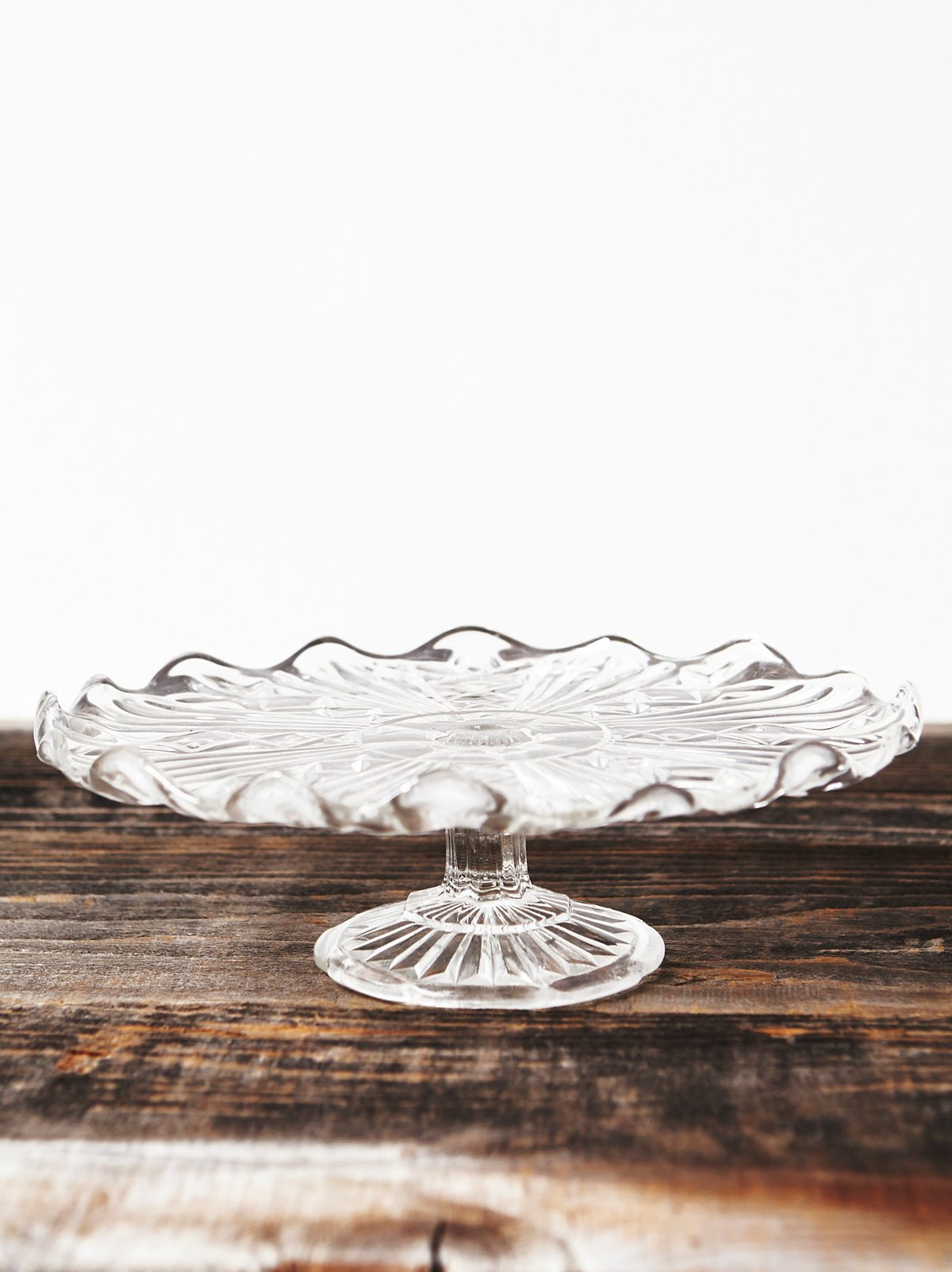 Vintage Glass Cake Plate