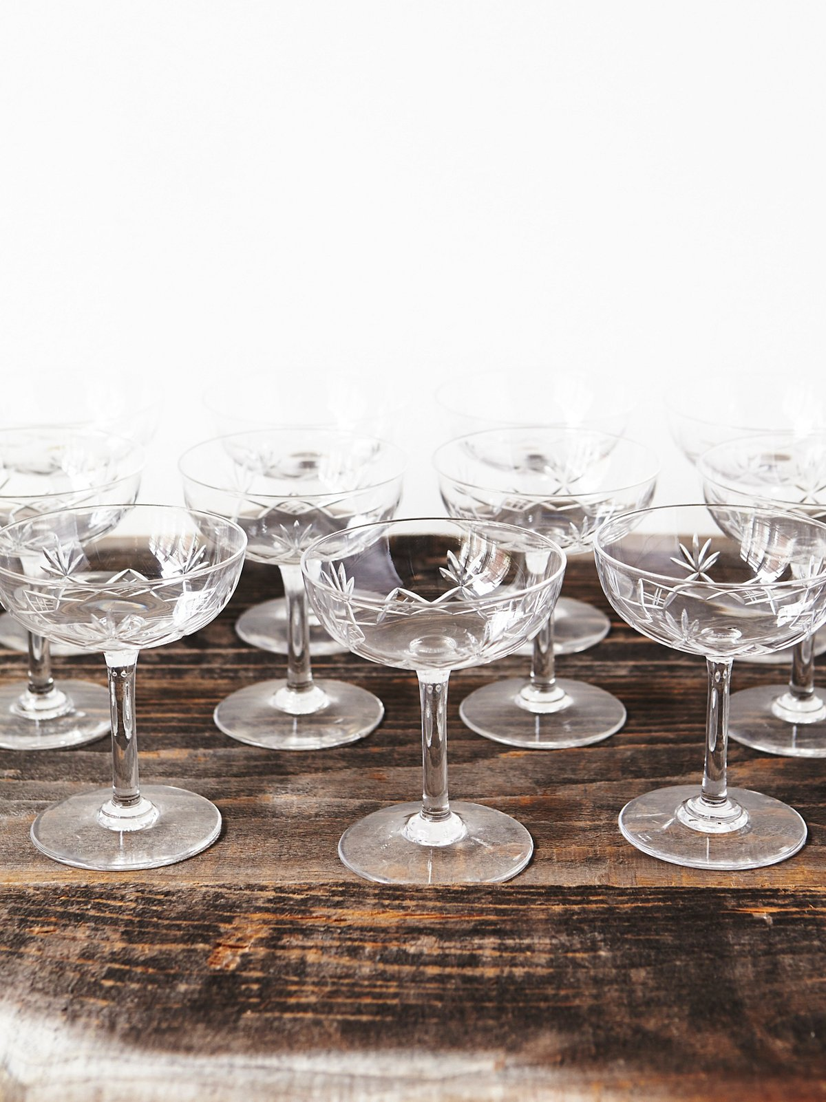 Vintage Loves One of a Kind Champagne Glasses