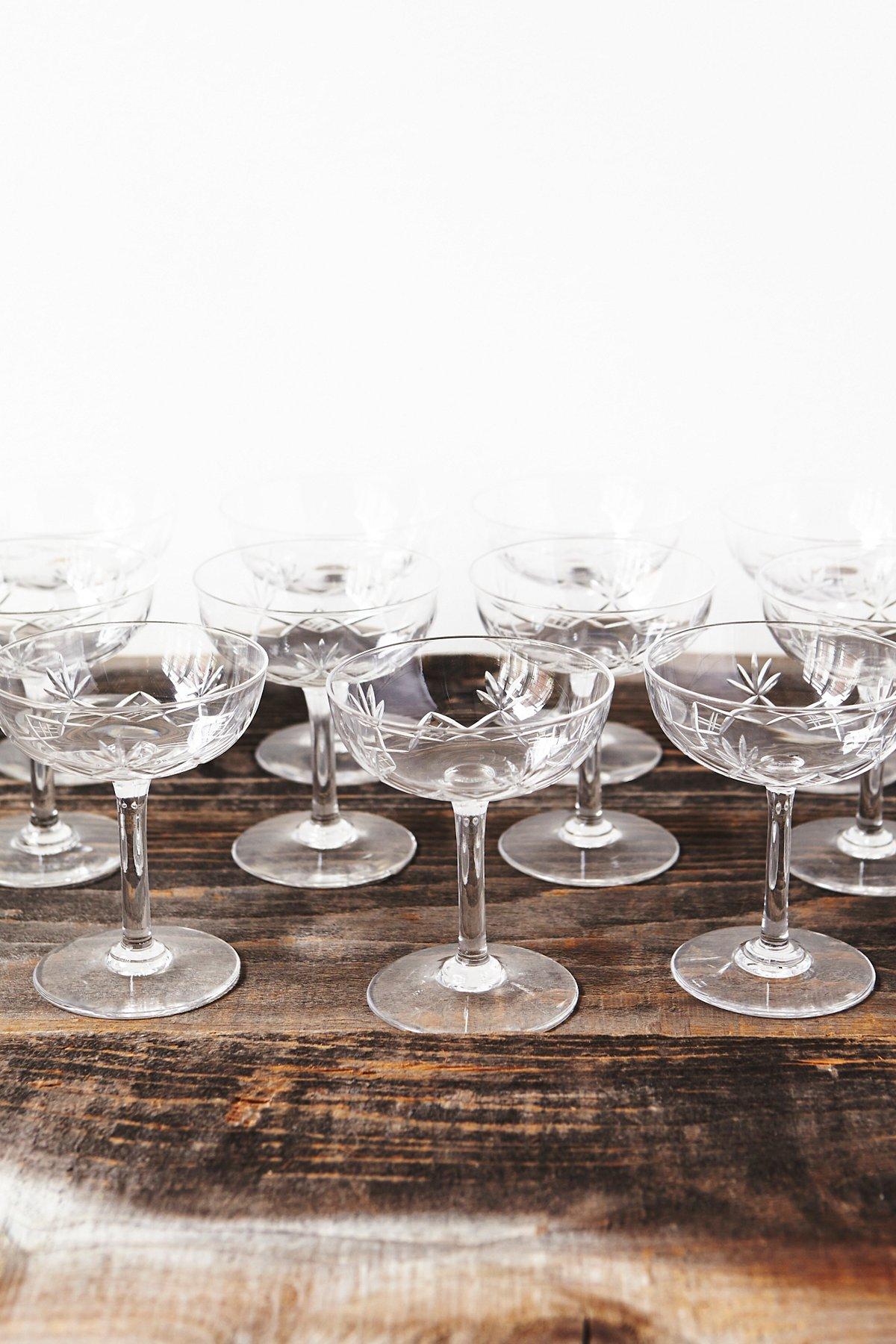 Vintage Loves One of a Kind Champagne Glasses