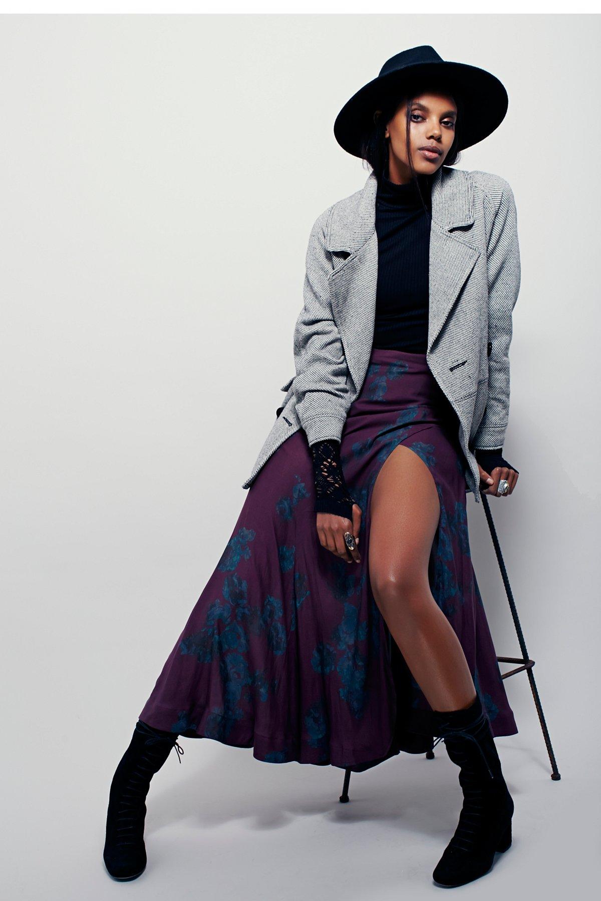 Olivia High Slit Maxi Skirt