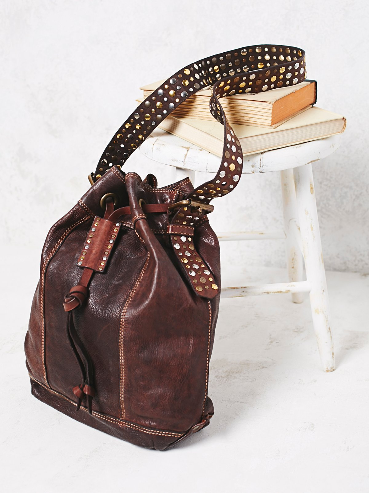 London Calling Leather Bucket Bag