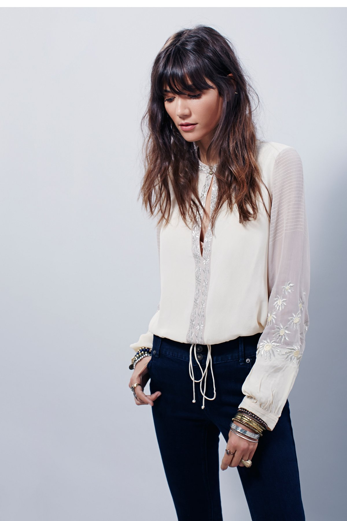 Midnight City Embroidered Top