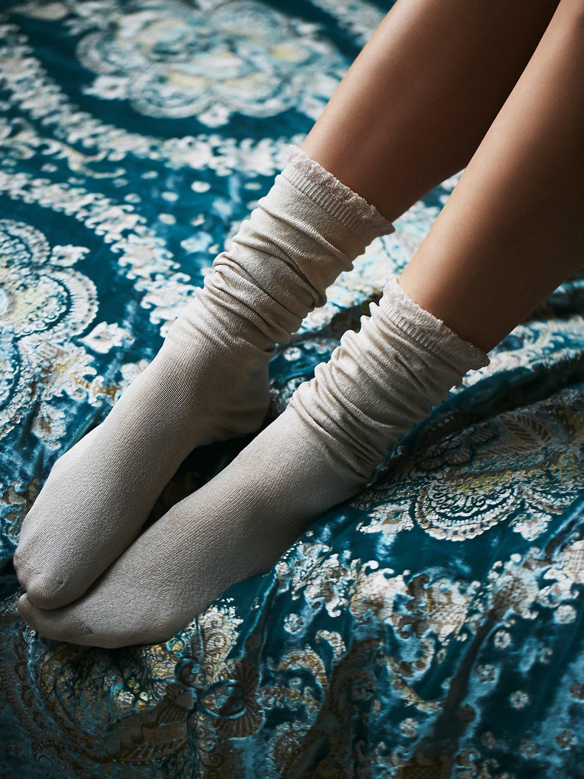 纯色休闲短筒袜