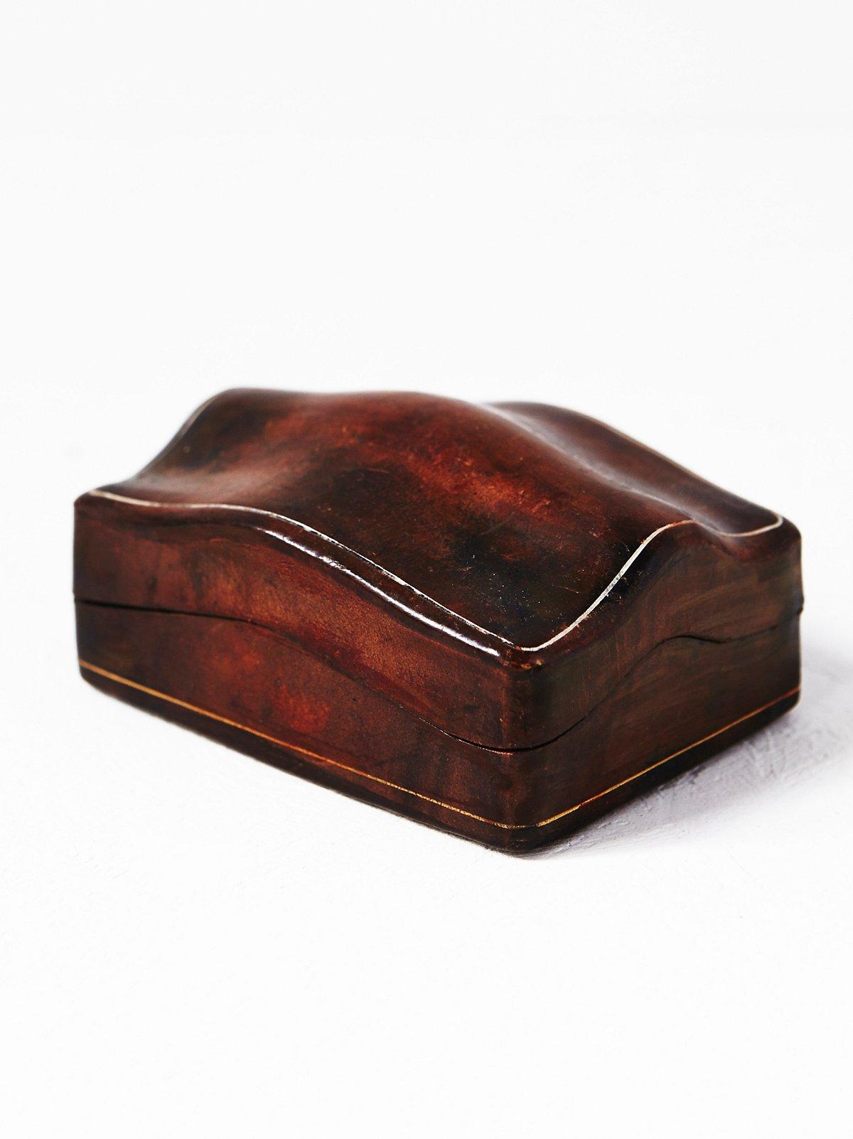 Vintage Leather Cuff Links Box
