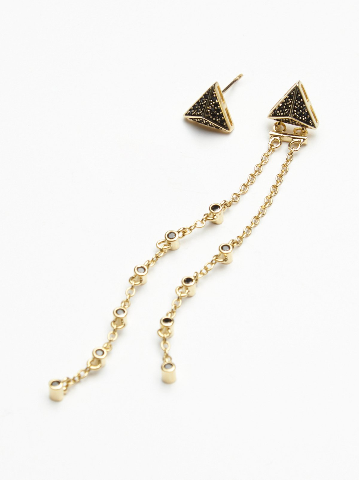 Yin Yang Triangle Earring