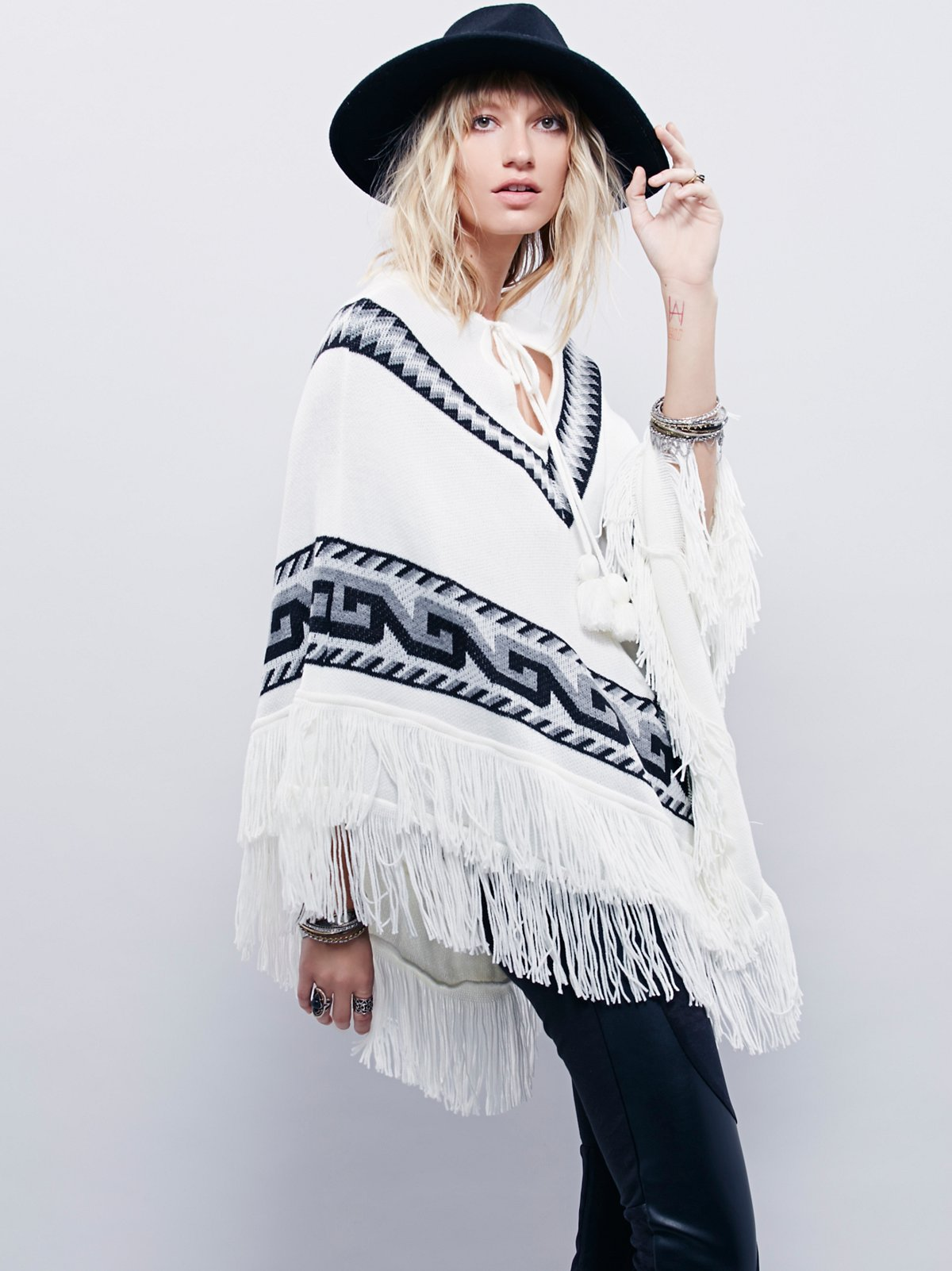 North Country Fringe Poncho