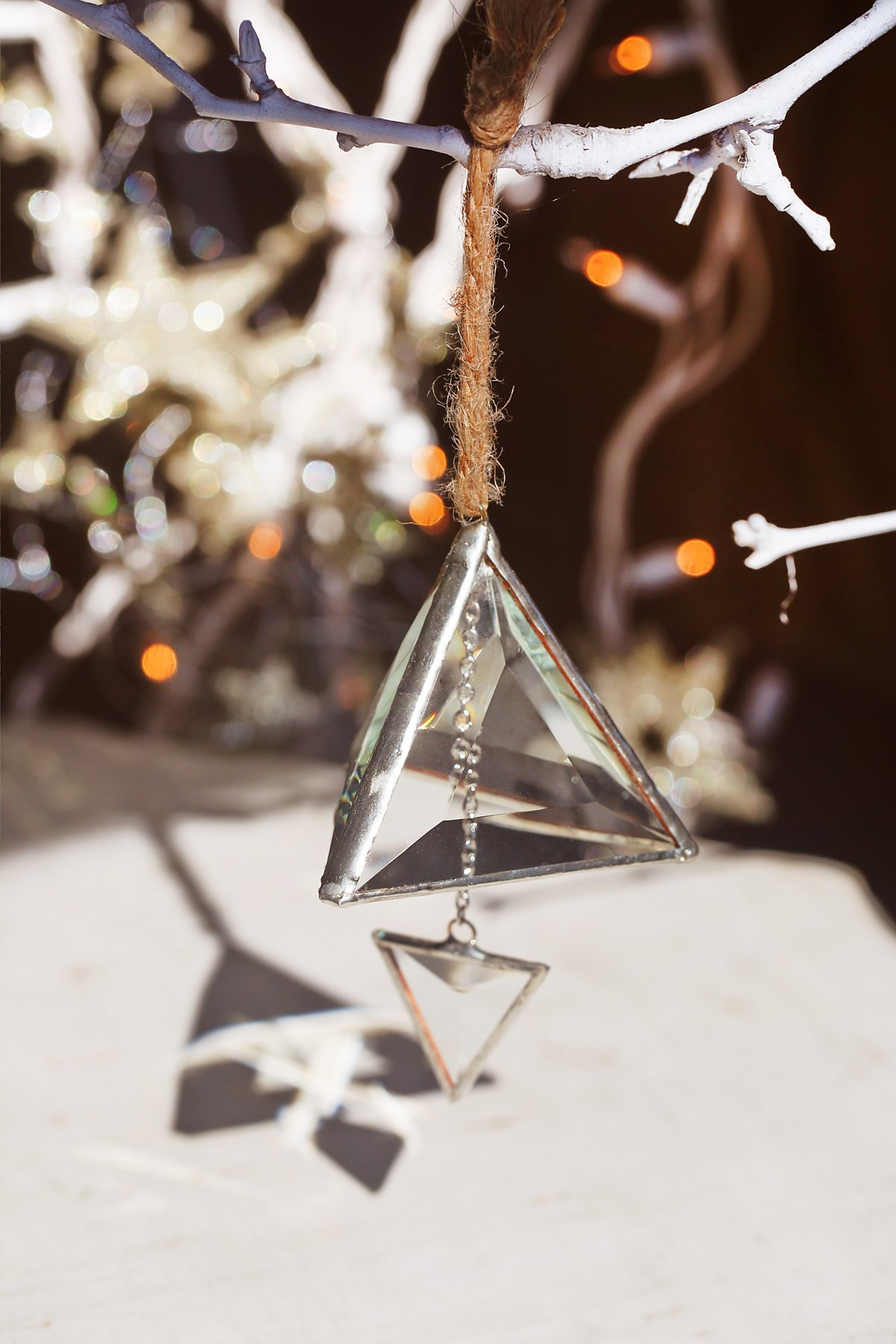 Glass Prism Ornament