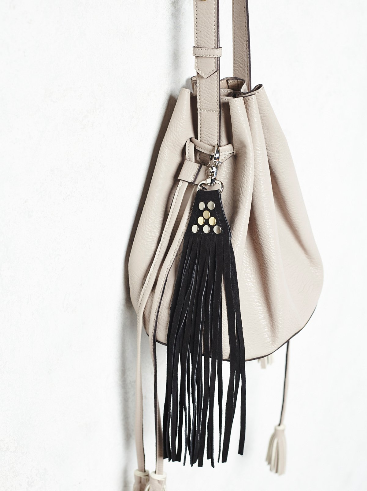 Suede Fringe Key Ring