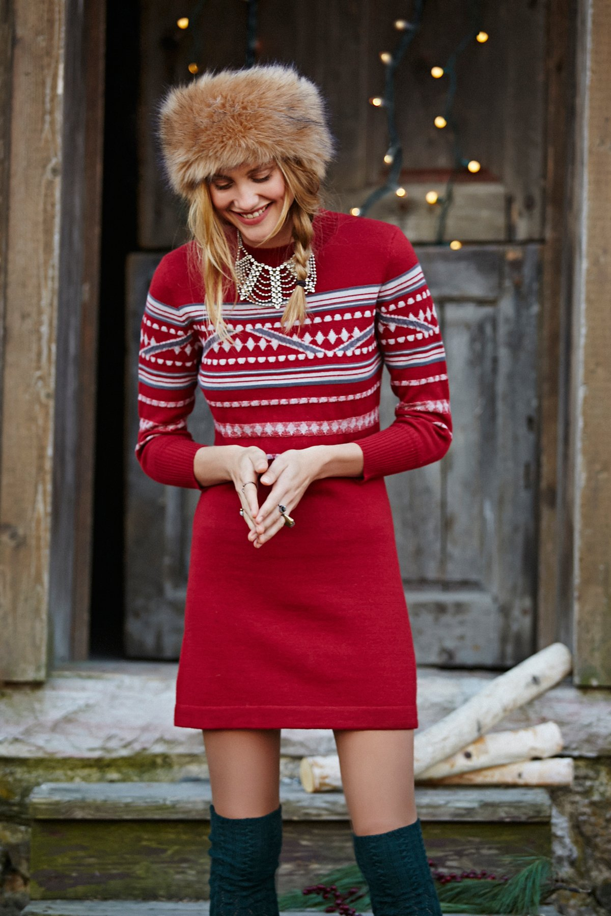 Hot Cocoa Patterned Dress