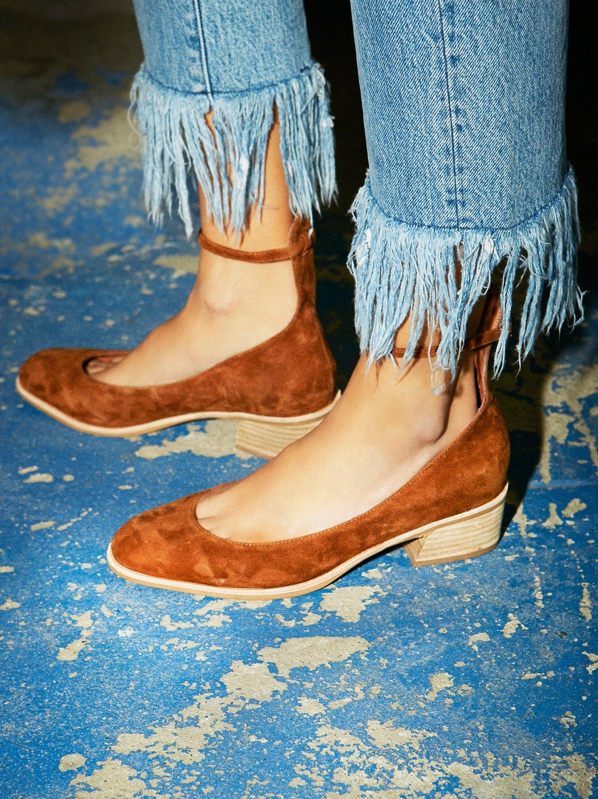 Boulevard粗跟平底鞋