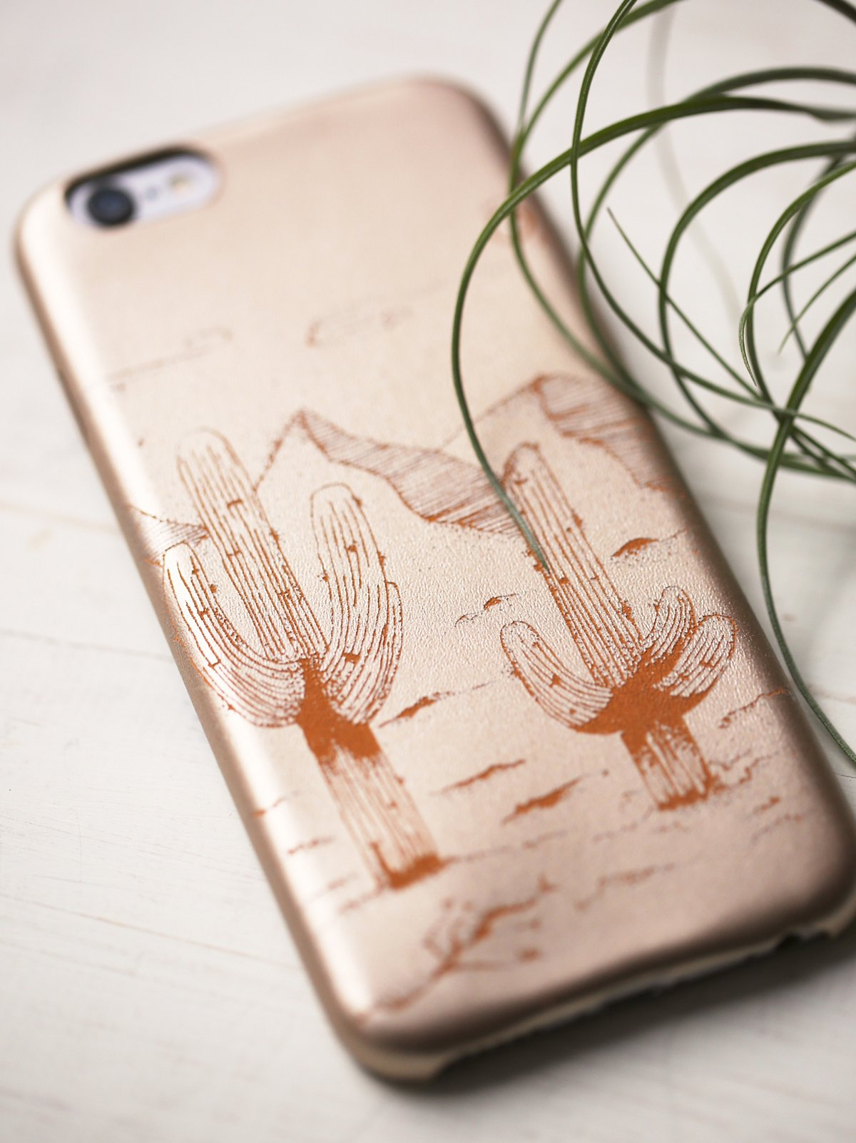 Desert Leather iPhone Case