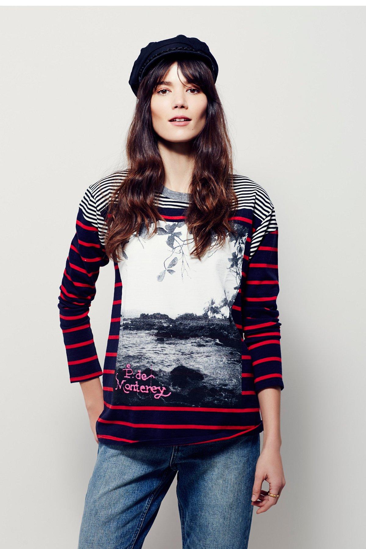 Monterey条纹T恤