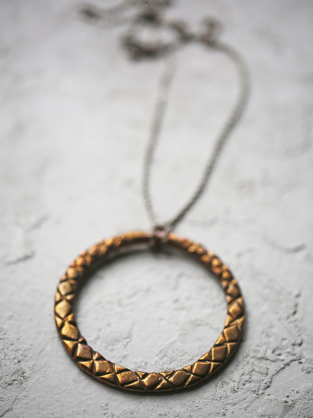 Etched Eternity Snake Pendant