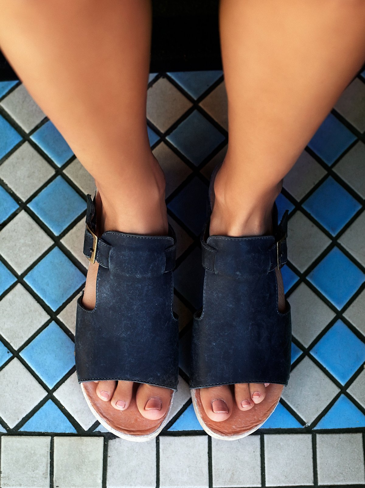Oasis Wood Slip On Sandal