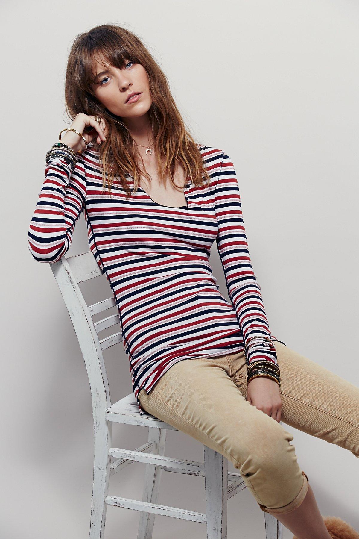 Stripe Me Up连帽上衣