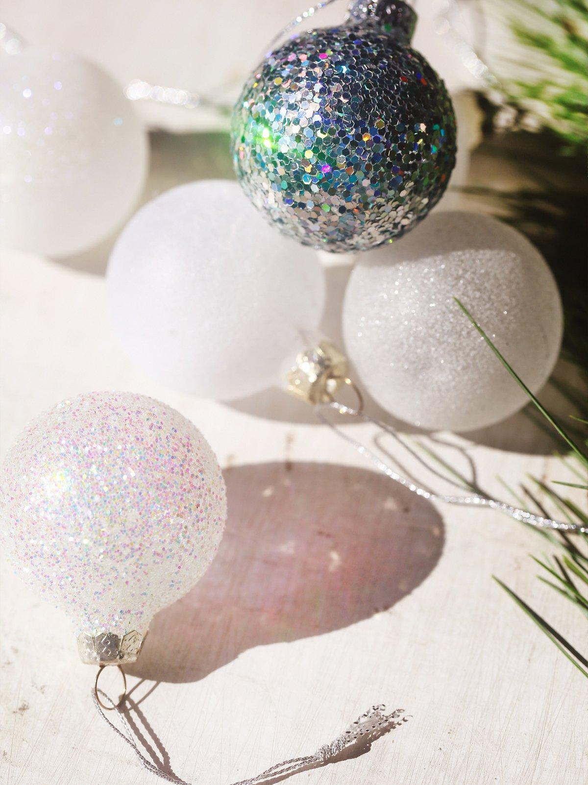 Glitter Glass Ball Ornament Pack