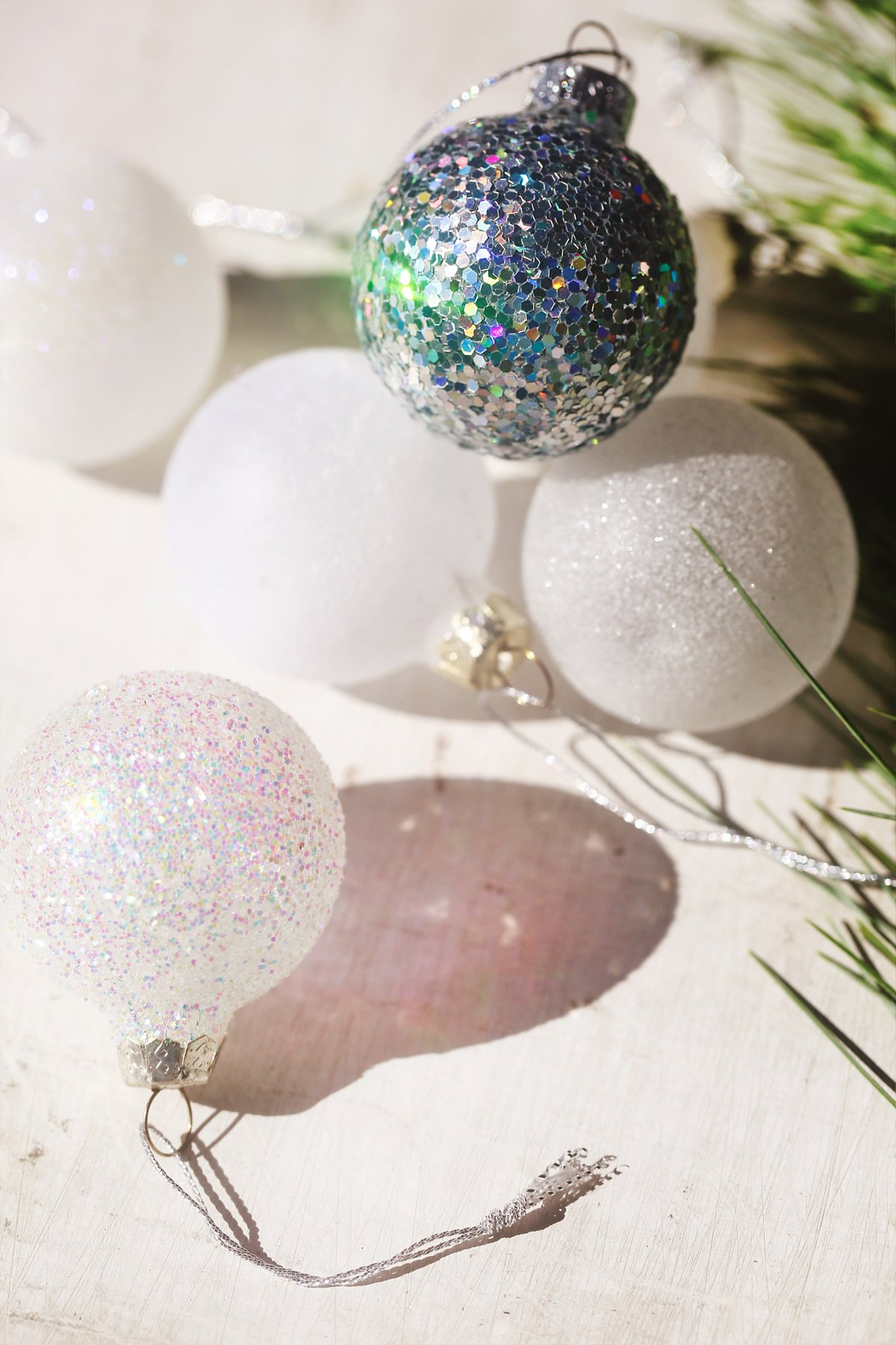 Glitter Glass Ball Ornament Pack