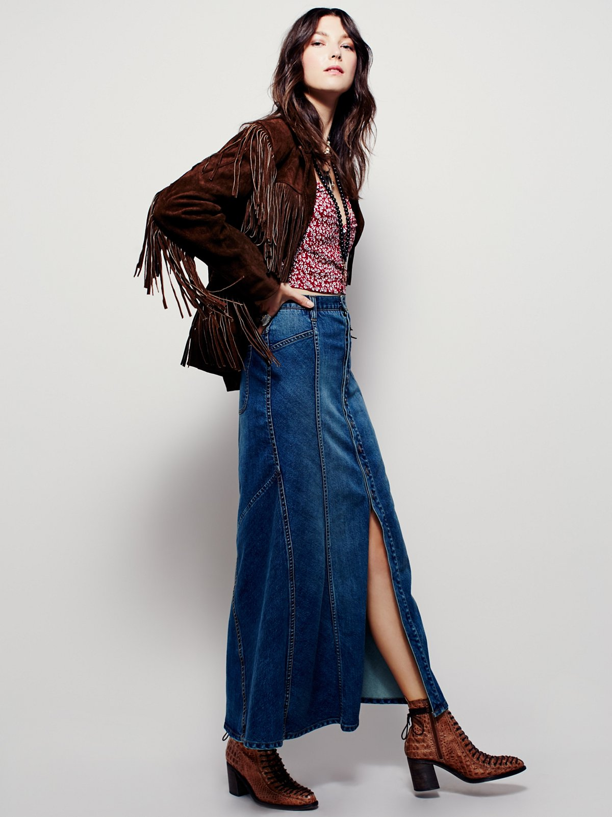 Penelope Denim Maxi Skirt