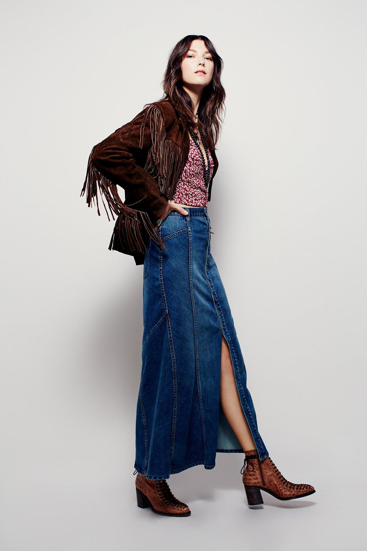 Penelope Denim Maxi Skirt