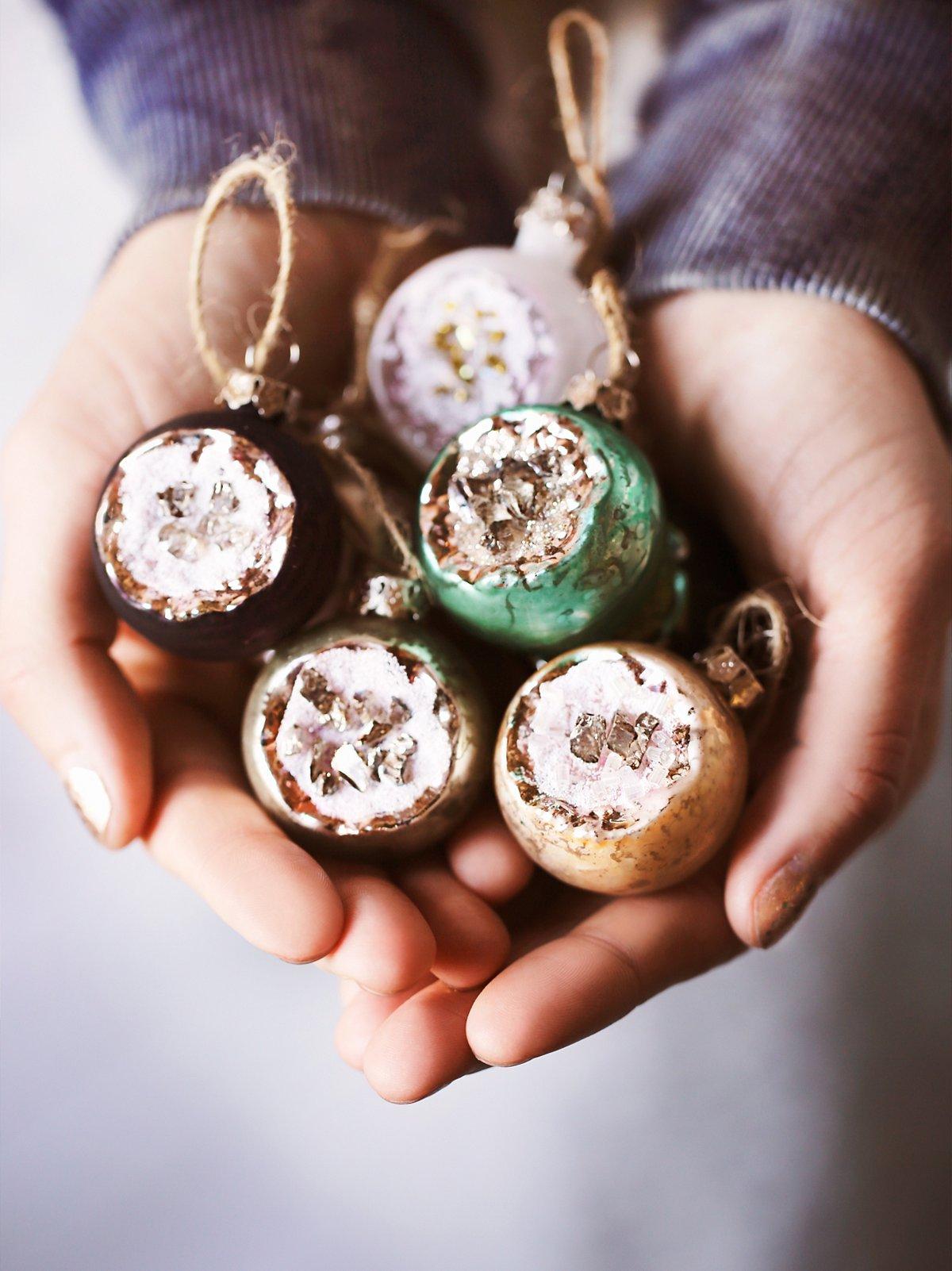 Geode Ball Ornament