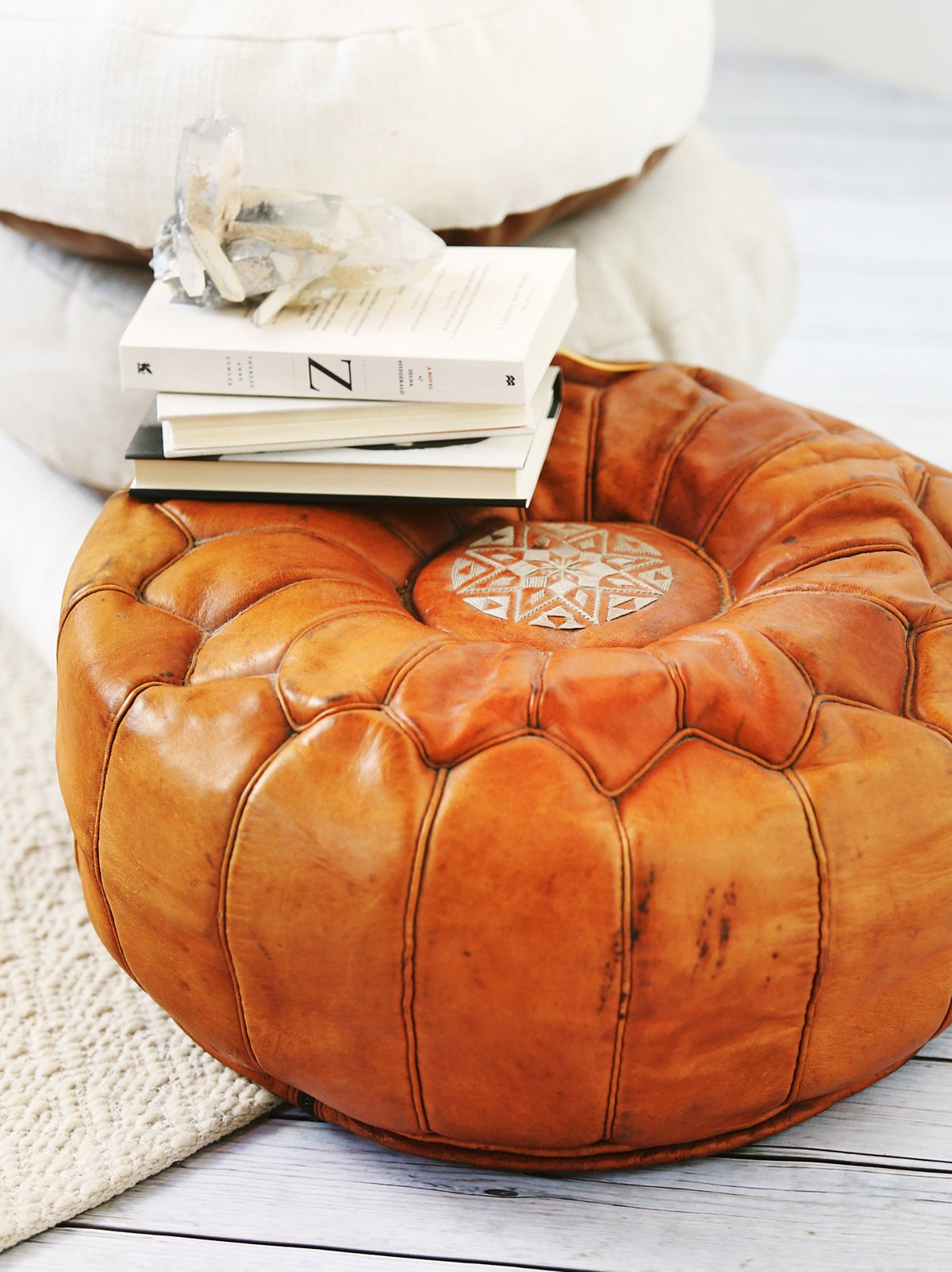 Vintage 70s Embroidered Pouf - SOLD