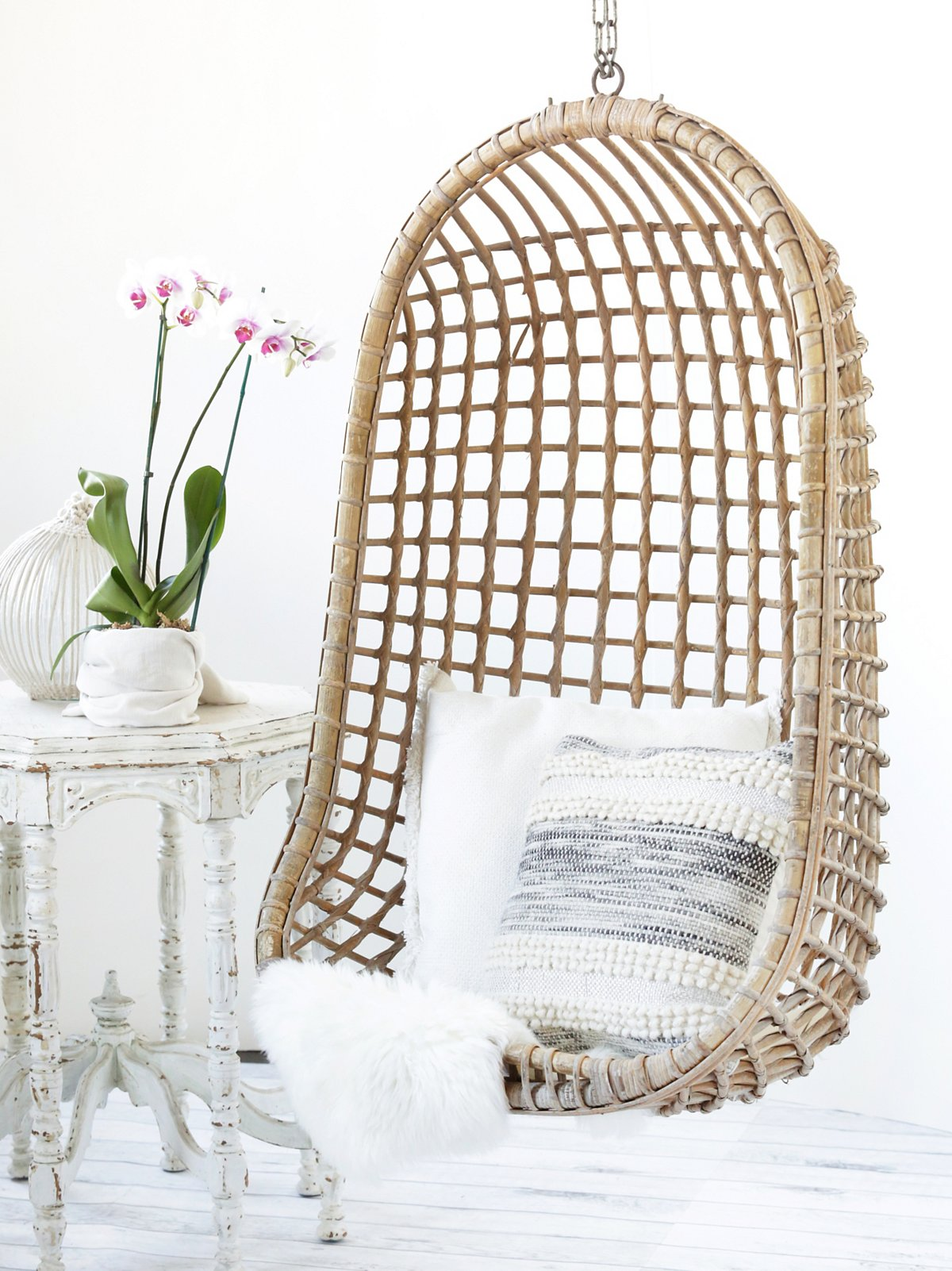 Vintage Rattan Hang Chair - SOLD