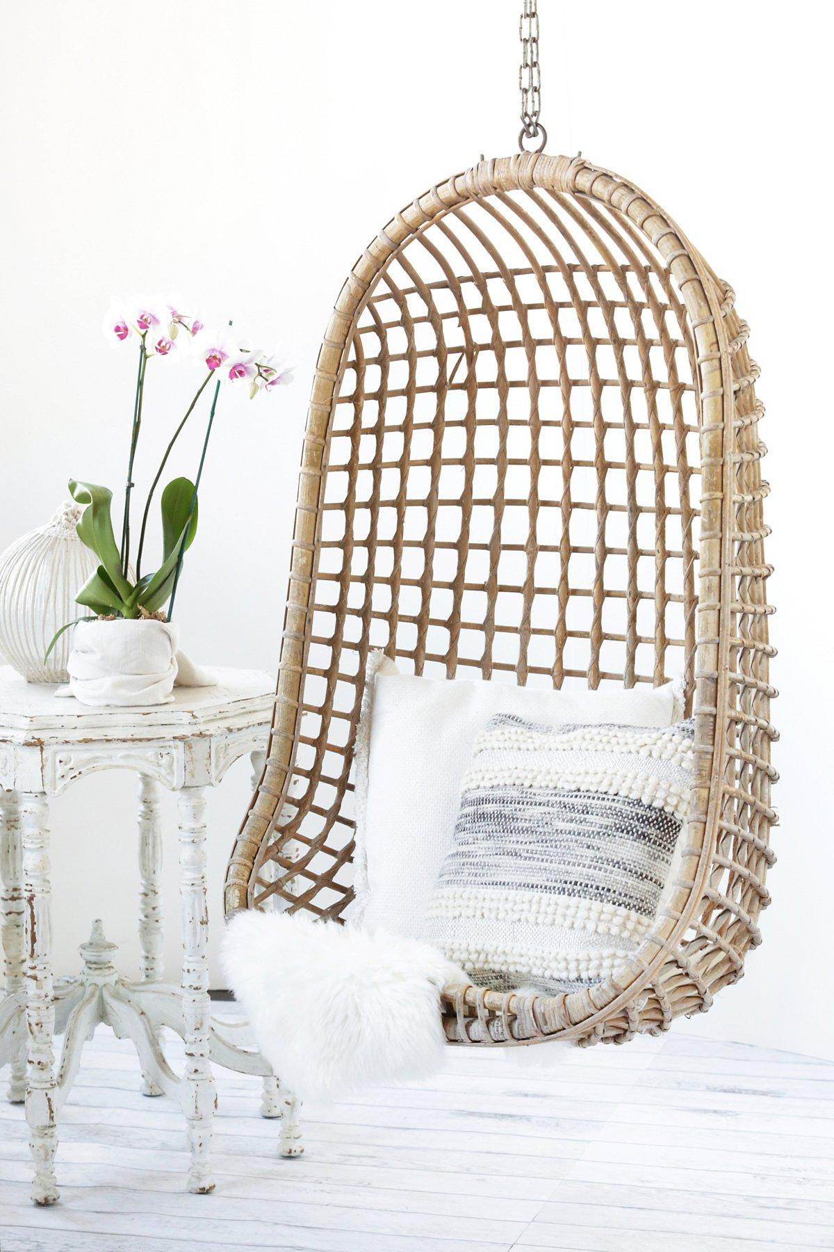 Vintage Rattan Hang Chair - SOLD