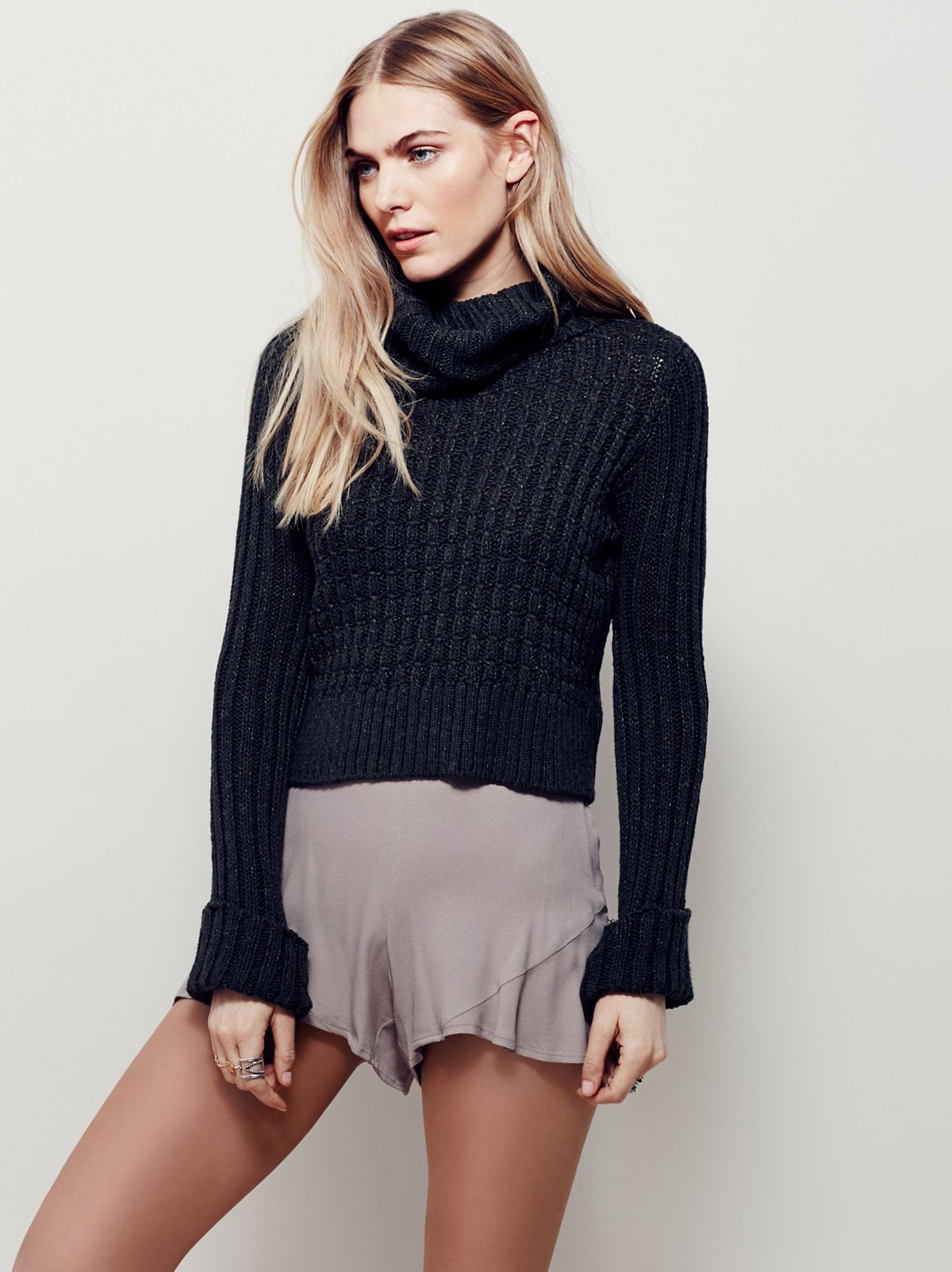 Twisted Cable Turtleneck