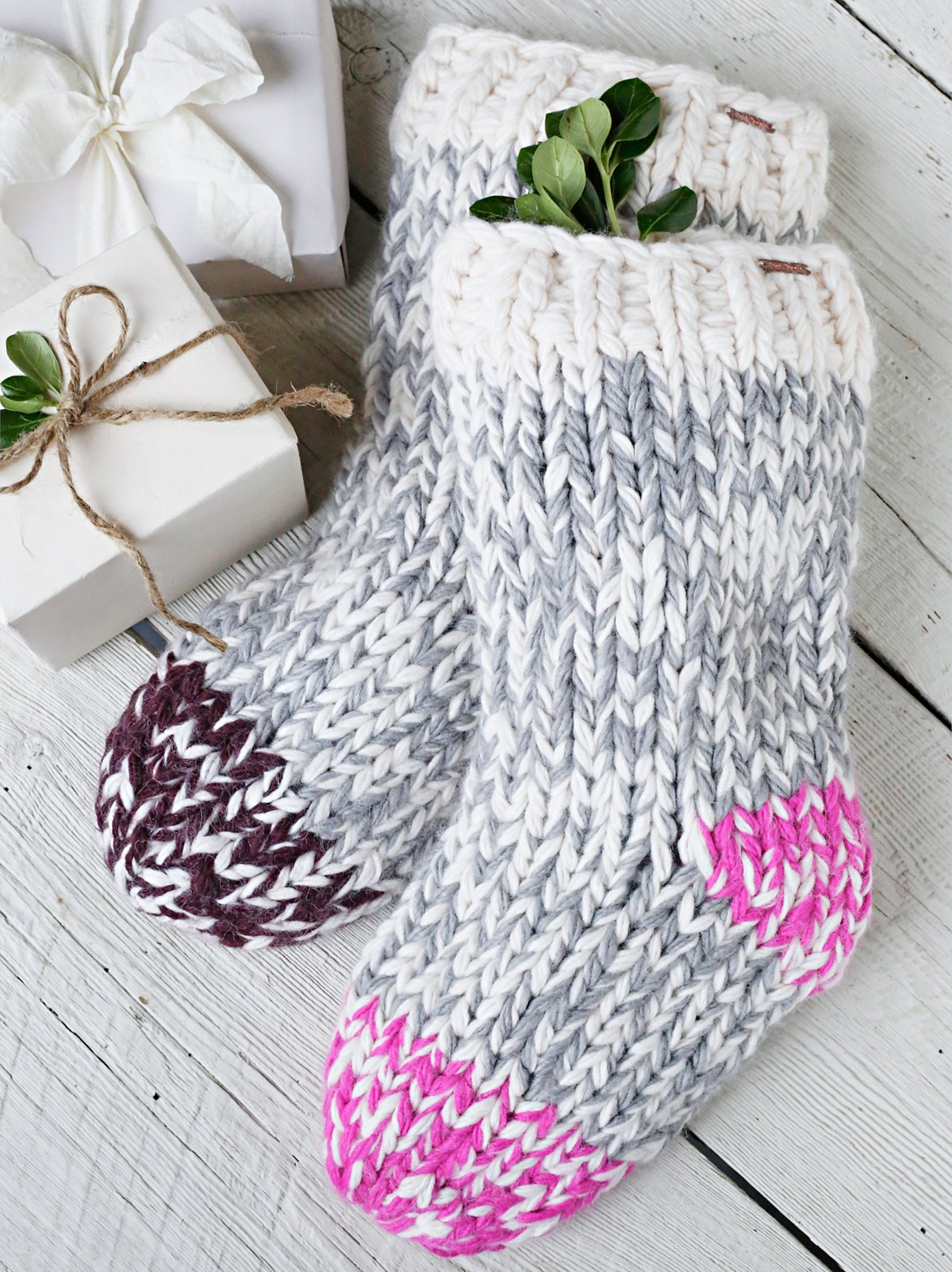 Cable Ombre Stocking